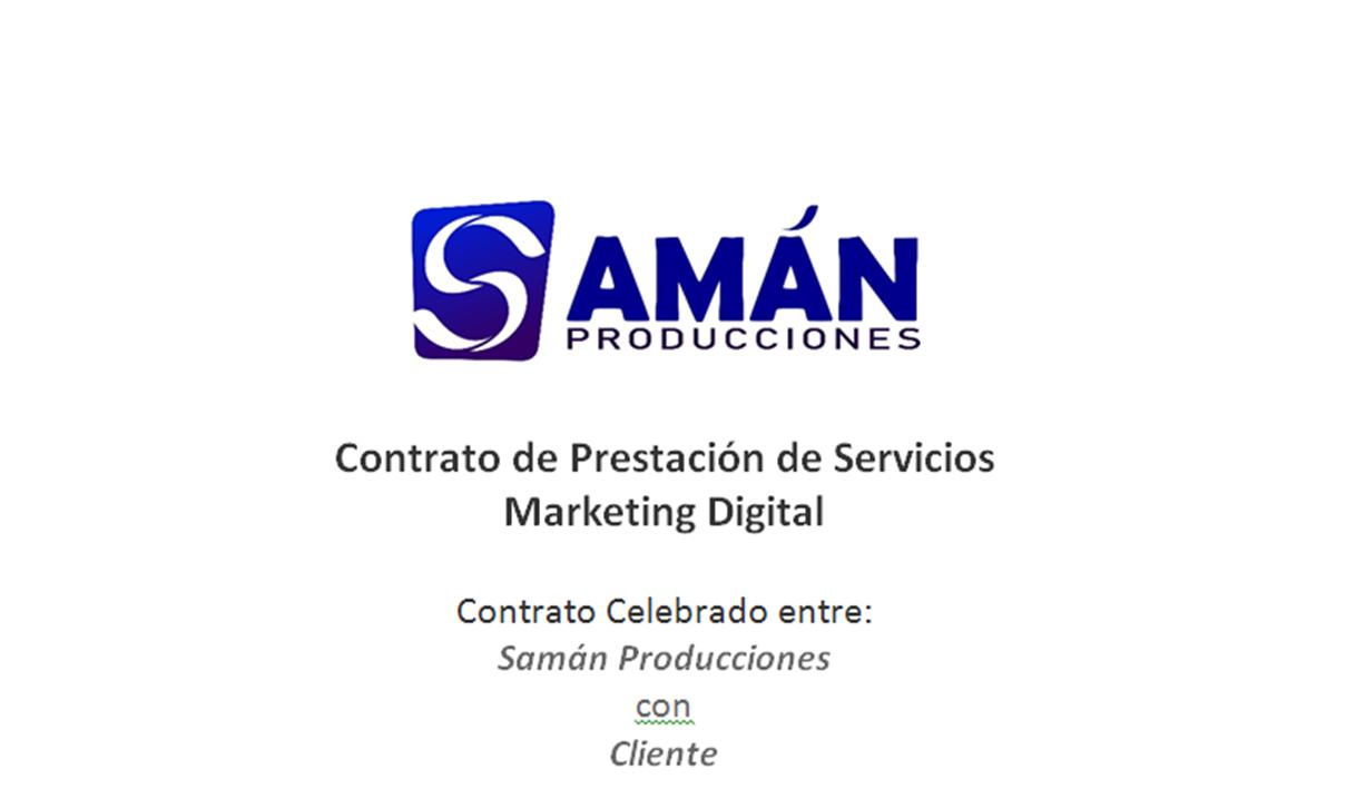contrato para manejo de redes sociales