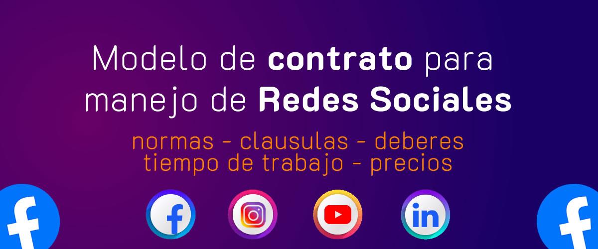 Contrato para manejo de Redes sociales PDF