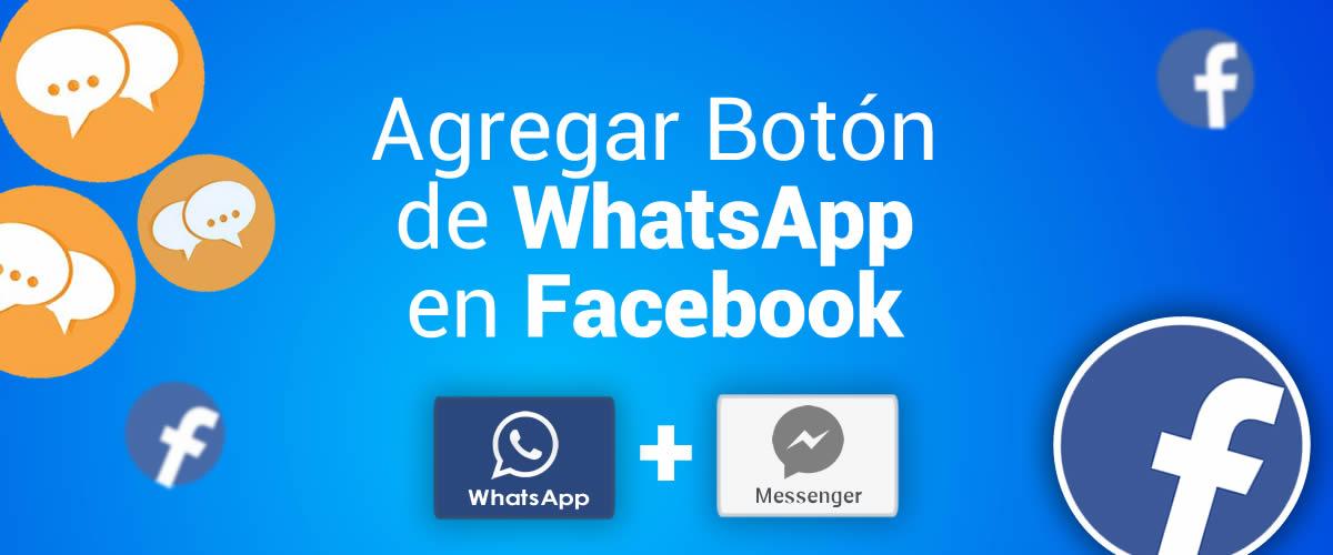 Como activar el botón de WhatsApp en Facebook