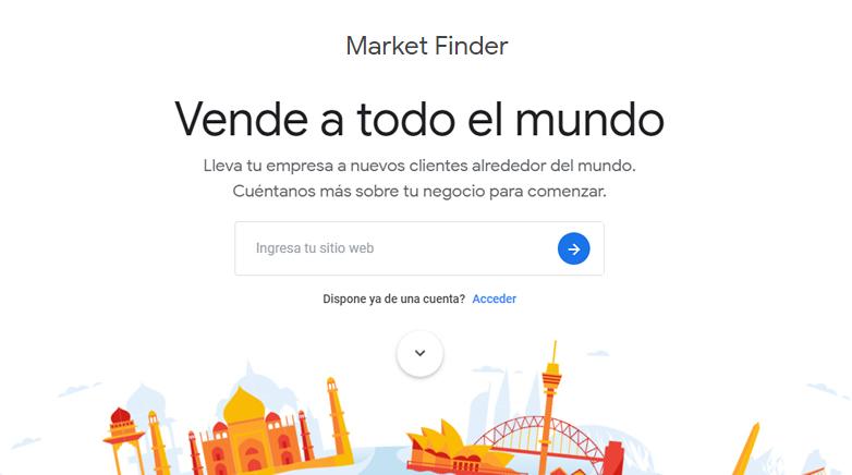 vende por todo el mundo con google market finder